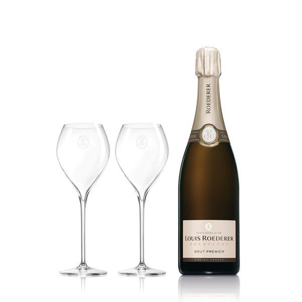 Champagne Louis Roederer Brut Premier mit 2 FlûtesBild