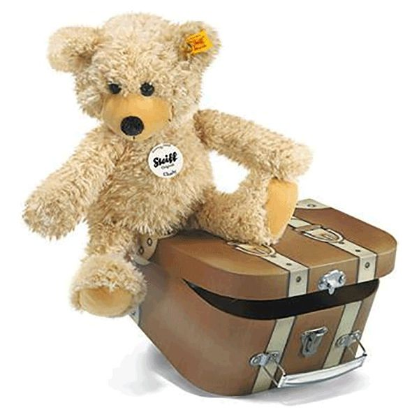 Steiff CHARLY Teddybear with Suitcase Image