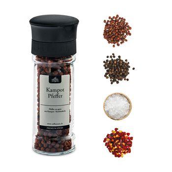 Raffinessen CrushGrind® Mühlen mit Pfeffer, Salz + Chili
