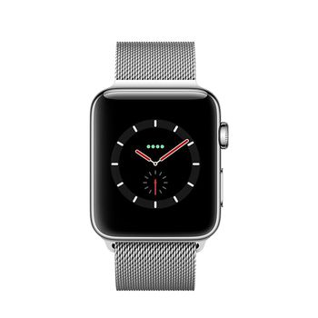 Apple Watch GPS+Cellular in Edelstahl 38mm - Milanaiseband