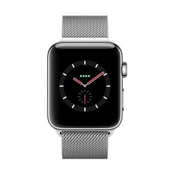 Apple Watch GPS+Cellular in Edelstahl 42mm - Milanaiseband