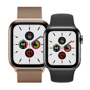 Apple Watch Series 5 GPS+Cellular in Edelstahl