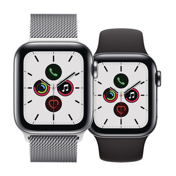 Apple Watch Series 5 GPS+Cellular in Edelstahl
