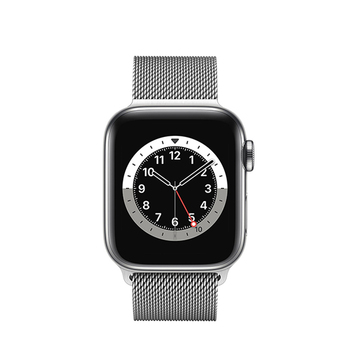 Apple Watch Series 6 GPS+Cellular Edelstahl – 40mm, Milanaise